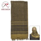 Rotcho Desert Shemagh – Tactical Desert Scarf, 100 Percent Woven Cotton, Breathable, Heat And Cold Protection - OD