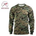 Rothco Long Sleeve T Shirt Woodland Digital Camo Pattern