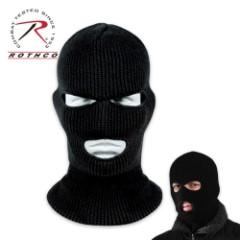 Three Hole Facemasks, Black