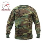 Rothco Long Sleeve T Shirt Woodland Camo Pattern