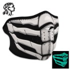ZANheadgear Glow In The Dark Bone Breath Neoprene Half Facemask