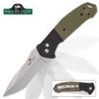 Bear Ops Bold Action Auto Black And Green Pocket Knife