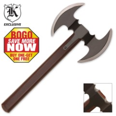 Double Bladed Throwing Hatchet Axe 2 for 1