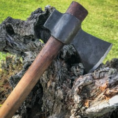 Hand-forged Wooden Handle Axe