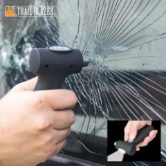 Trailblazer 3-in-1 Auto Emergency Tool - Glass Breaker Hammer / Seatbelt Cutter / Dynamo Flashlight