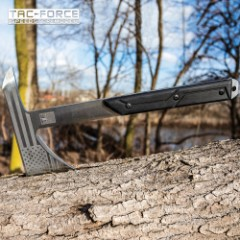 """Tac-Force USA Tomahawk Axe With Sheath - 3Cr13 Stainless Steel Head, Etched Blade Art, Pakkawood Handle - Length 12 1/4"""""""