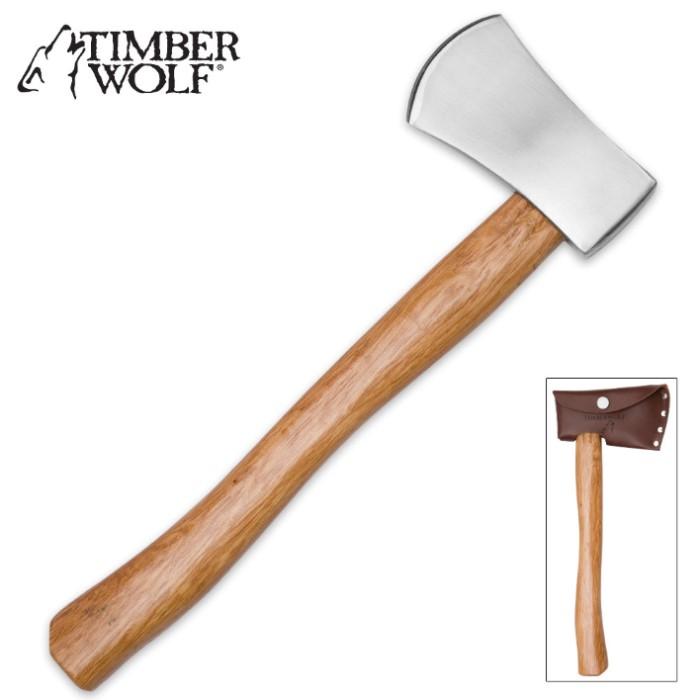 Timber Wolf Battle Ready Throwing Axe True Swords