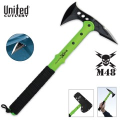 M48 Apocalypse Tactical Tomahawk Toxic Green & Sheath