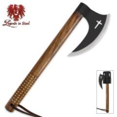 Legends In Steel Black Crusader Tomahawk