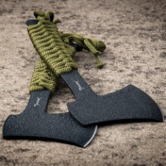 Tomahawk Compact Full Tang Axe For Camping & Hiking BOGO