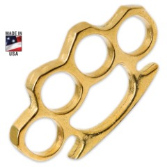 Heavy Brass Knuckles - 1/2 lb. of Solid Brass