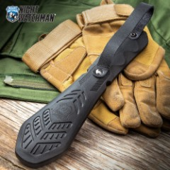 Night Watchman Blackjack Slapper - Solid TPR Rubber Construction, Molded Texture, Genuine Leather Handle Strap - Length 10""