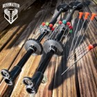 "Bushmaster Blow Gun – Comfortable Grip, Lightweight Aluminum Shaft, Integrated Quiver Front Sight, Includes 10 Darts - Length 18"""
