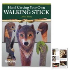 "Hand-Carving Your Own Walking Stick Guide - Paperback, Full-Color Illustrations And Photos, 72 Pages - Dimensions 8 1/2""x 11"""