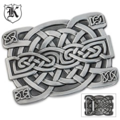Celtic Knot Rectangular Zinc Alloy Belt Buckle Large