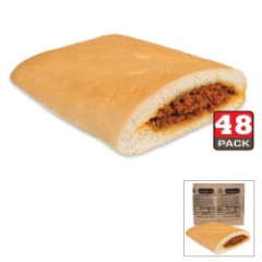 Bridgford MRE Honey BBQ Beef Sandwiches – 48-Count