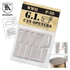 5 Pack P38 GI Style Can Openers Survival SHTF