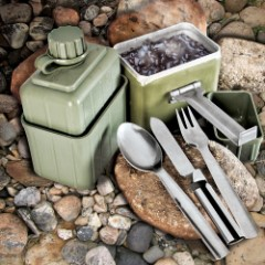 Used Yugoslavian Military Surplus Canteen Mess Kit