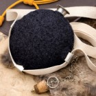 Navy Blue Wool Covered Civil War Canteen Replica