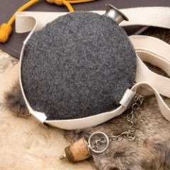 Gray Wool Covered Civil War Canteen Replica