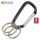 Trailblazer Multi-Ring Carabiner 3-Pack - Black