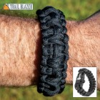 Trailblazer Survival Paracord Bracelet - Integrated Whistle, Firestarter - Length 9 4/5""