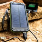 10000 MAH Solar Charger And Power Bank With Flashlight - High Compatibility With Devices, SOS Mode, Li-Ion Polymer Battery, Water-Resistant, Shock-Proof