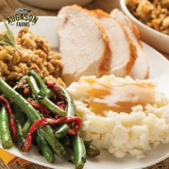 Auguson Farms Turkey Feast Pail - 52 Servings, Complete Turkey Dinner, Individual Mylar Pouches - Up To 20 Year Shelf Life