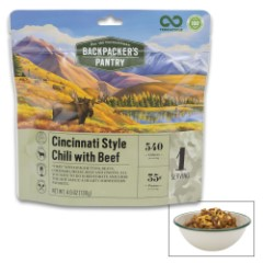 Cincinnati Style Chili With Beef - All-Natural Ingredients, High-Protein, Just Add Water, Cook In Pouch, Ten-Year Shelf-Life