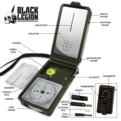 Black Savage Multi-Function Compass Kit