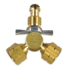 Century Y Female Brass Propane Adapter