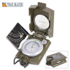 Deluxe OD Military Marching Compass