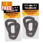Trailblazer Tactical Carabiner - Two-Pack - Black - Buy 2, Get 2 Free