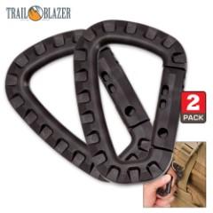 Trailblazer Tactical Carabiner - 2-Pack - Black