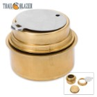 Trailblazer Brass Alcohol Burner With Screw-On Lid
