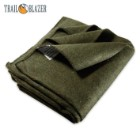 "Trailblazer 64"" x 84"" Wool Blanket - Olive Green"