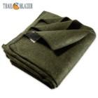 "Trailblazer Wool Blanket - Olive Drab Green -  51"" x 80"" - 2 Pounds - Heavy and Warm"