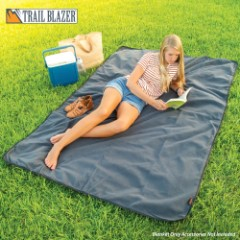 "Trailblazer Waterproof Camping Blanket - 250D Ripstop Polyester - Polar Fleece - Polyurethane Coating - 58"" x 84"""