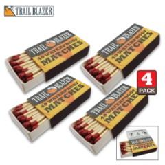 Trailblazer Waterproof Matches – Four-Pack