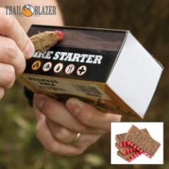 Trailblazer Fire Starter Sticks with Match Heads, 40-Pack - Striker Strip Box, Lights Like Match, Replaces Kindling, Natural, Safe