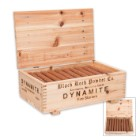Black Rock Powder Dynamite Fire Starter Sticks - 20-Pack In Wooden Crate