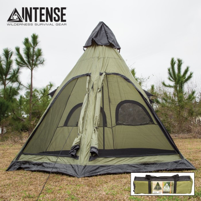 & Intense 4-Person Teepee Tent | CHKadels.com | Survival u0026 Camping Gear