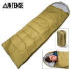 Intense 3-Season Mummy Sleeping Bag with Drawstring Shoulder Stuff Bag