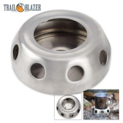 Trailblazer Solid Fuel Camping Stove - Galvanized Steel, Lightweight, Circular Design, Two-Piece Construction