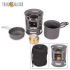 Trailblazer Alcohol Burner Camp Stove and Cookware Set