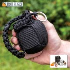 Trailblazer 48-Piece Paracord Grenade Survival Kit - LED Flashlight, Matches, Fishing Line, Sutures, Fire Starter Toggle, Mini Pocket Knife
