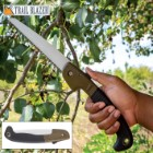 """Trailblazer Multi-Purpose Folding Saw - Stainless Steel Blade, TPR And TPU Handle, Safety Release Button - Length 10 1/2"""""""
