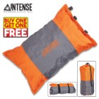 "Intense Self-Inflating Camping Pillow With Carry Bag - Polyester Outer, Polyurethane Filling, Lightweight - Dimensions 16""x 9 1/2"" - BOGO"