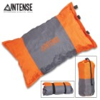 "Intense Self-Inflating Camping Pillow With Carry Bag - Polyester Outer, Polyurethane Filling, Lightweight - Dimensions 16""x 9 1/2"""