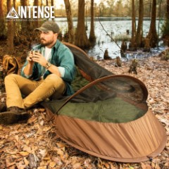 "Intense Pop-Up Bivy Tent With Backpack - Rip-Stop Nylon Construction, Mosquito Netting, Fiberglass Shock Cords - Dimensions 7'x 29 1/2""x 22"""